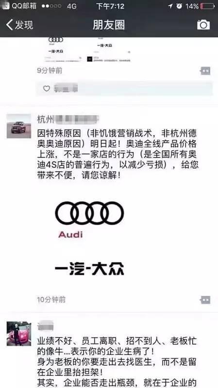 奥迪部分车型最高涨幅超10% 这都与奥迪牵手上汽有关?