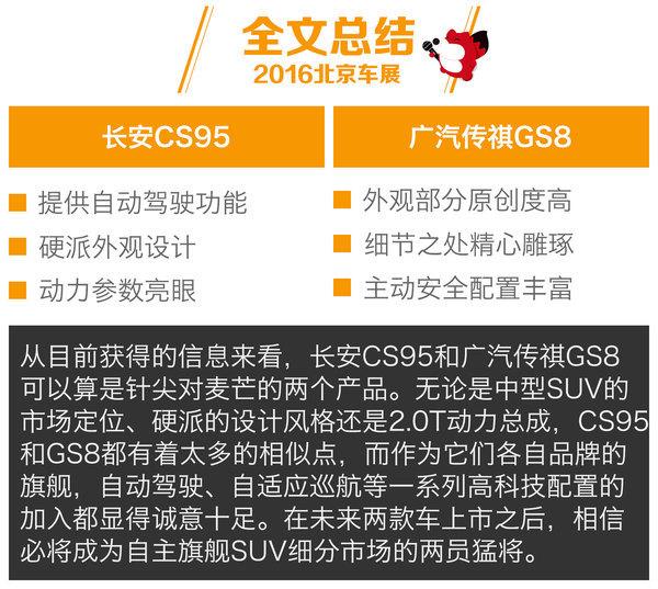 [北京车展] 长安CS95对比广汽传祺GS8
